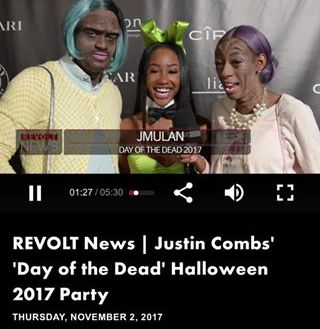 Kway & Lala and JMulan Justin Combs Halloween Party